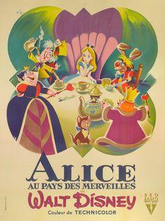 Alice In Wonderland / Alice Au Pays Des Merveilles (1951) - Original Vintage Film Poster | Love eXcellence | Art | Best British Luxury Brands Gifts UK