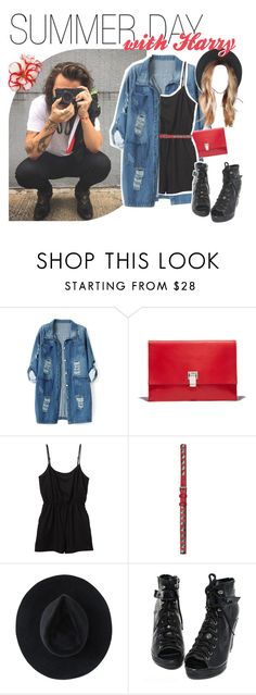 """""""summer day with harry"""" by fangirlsets ❤ liked on Polyvore featuring Chicnova Fashion, Proenza Schouler, Monki, BeckSöndergaard and Ryan Roche"""