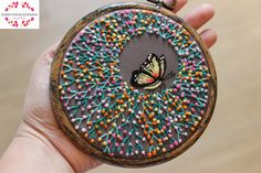 Embroidered Hoop Art on Silk Embroidery Hoop by SunayanaBGoswami