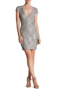 Dress the Population 'Zoe' Embellished Mesh Body-Con Dress | Nordstrom