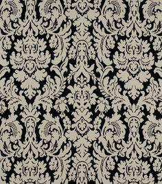 FABRIC OPTION IF I MAKE CURTAINS:   Home Decor Fabric-Robert Allen Bhuj Damask Black White Fabric    # 9660549    reg. 49.99    sale 24.99    50% off Entire Stock Swavelle Millcreek & Robert Allen Home Decor