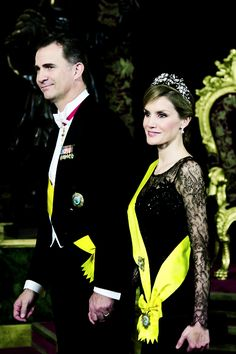 Crown Prince Felipe and Crown Princess Letizia of Spain attend gala banquet in honor of Mexico's President Enrrique Pena Nieto June 9, 2014
