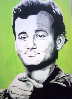 18x24 Bill Murray  Acrylic on Canvas