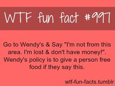 That's messed up if people just do that for getting free food.