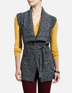 Sweater Vest---love this color scheme!