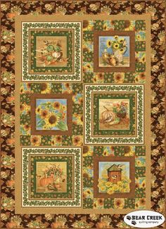Harvest Botanical Free Quilt Pattern by Henry Glass