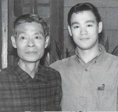 Lee with his father