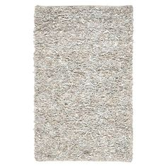 Billings Leather Shag Rug in White  5'x8' = $116.95