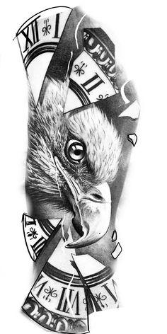 Half Sleeve Tattoos Designs, Tattoo Design Drawings, Tattoo Sleeve Designs, Art Drawings Sketches, Buddha Tattoo Design, Totenkopf Tattoos, Graffiti Tattoo, Tattoo Templates, Eagle Tattoos