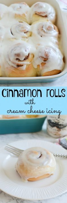 Cinnamon Rolls with Cream Cheese Icing - soft and fluffy cinnamon rolls with the most delicious icing!