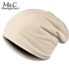 New Fashion Winter Men Women Solid Color Elastic Hip-Hop Cap Beanie Hat Slouch 9 Colors One Size