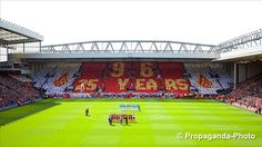 The @SpionKop1906 create a mosaic to remember the 96 victims of the Hillsborough disaster.