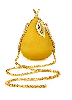 Anya Hindmarch yellow pear clutch