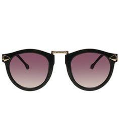38ce300e4ed0e óculos prada feminino com lente roxa e detalhes em dourado