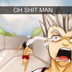 "Haikyuu - ""yes kuroo! ! Get him !!!"""