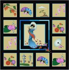 Asian quilt design