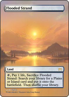 Magic The Gathering Flooded Strand Proxy