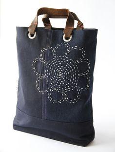 Mini tote bag meets sashiko | D-SY|73 by Daisy van Groningen