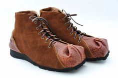 【tote boots:トートブーツ】トートバックをヒントに出来たつま先の形が特徴の靴シリーズです。【カラー】ピーナッツブラウンxキャメル【素材】アメリカンバ...|ハンドメイド、手作り、手仕事品の通販・販売・購入ならCreema。