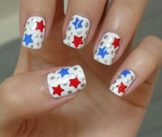 patriotic nail designs | July Nails Designs Found Fun Patriotic Red