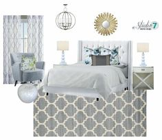 A favorite E-design I worked on this past week. Loving the light and airy feel of this master bedroom retreat. Excited to get pictures back on this one!  #studio7interiordesign #studio7edesign #edesign #utahdesigner #moodboard