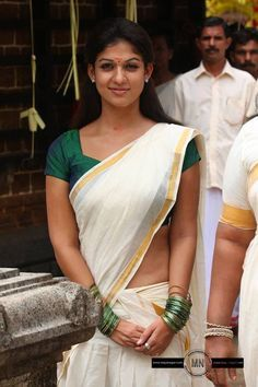 Nayantara in Kerala saree, Awesome look in green blouse and nude gap below blouse and hip Most Beautiful Indian Actress, Beautiful Asian Girls, Beautiful Actresses, Beautiful People, Beautiful Women, Indian Film Actress, South Indian Actress, Indian Actresses, Nayantara Hot