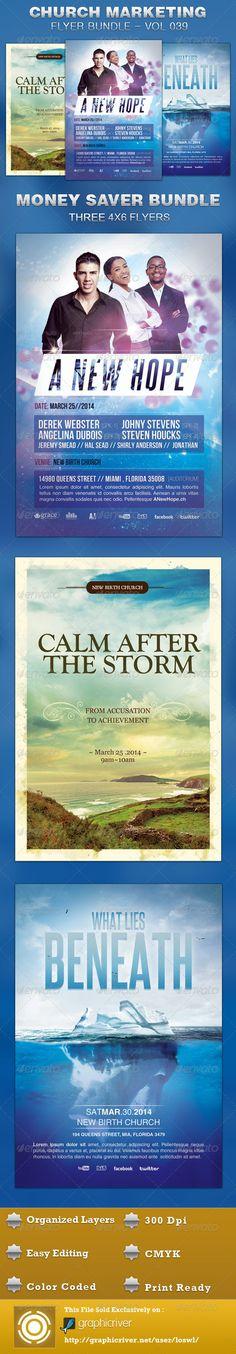 Church Marketing Flyer Bundle Vol 039 $11.00