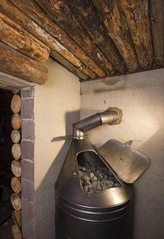 Swedish Sauna, Finnish Sauna, Sauna Wood Stove, Building A Sauna, Outdoor Sauna, Zen Design, Tiny House Cabin, Saunas, Home Remodeling