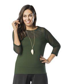 Crochet Top - Ruby Ribbon - Balsam - Green - Fall Fashion