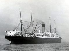 "One of White Star Lines ""Athenic"" class liners. Used on the U.K.-Australia service under the Shaw Savill Line banner. c.1902"