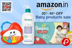 Amazon brings #BabyProductsSale and offering 20% – 40% off on Baby Products including Activity & PlayTime, Baby Care, Baby Carriers, Baby Clothing, Baby Safety, Baby Shoes, Bedding, Furniture & Room Décor, Car Seats & Accessories, Diapering & Nappy Changing, Feeding, Pacifiers & Teethers, Potty Training & Step Stools, Strollers, Buggies & Prams with big brands.  http://www.paisebachaoindia.com/baby-products-sale-20-40-off-amazon/