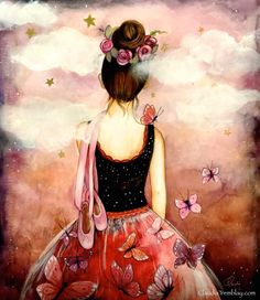Dreaming ballerina by claudia tremblay