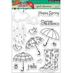 Penny Black Clear Stamps Sheet April Showers