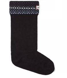 bdbc1c6fec4 Hunter Womens Size XL OZONE SOLAR FLARE Tall Fair Isle Boot Socks NIB NEW   fashion