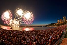 Fireworks..a serious summer must see.. English Bay, Vancouver BC