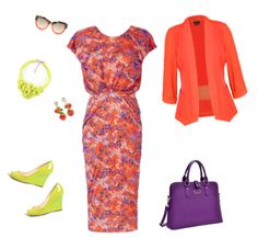 Fiesta is really, more of a red-orange but clear spring really doesn't have a red-orange. Clear spring looks best in more pure colors. The closest to red orange is this deep orange. A clear spring can totally pull this look off!  I styled this color with purple and lime green that create a tr