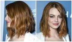 The 34 Hottest Medium Length Hairstyles: Emma Stone's Trendy Shag