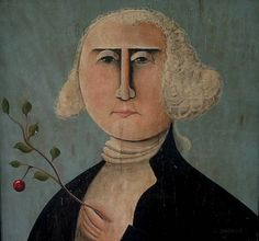 A primitive portrait of our Founding Father by Award winning NH Artist, Tim Campbell