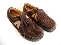 Mens-Airwalk-Shoes-Brown-Suede-Leather-Corduroy-Size-6-5-Grunge-Distressed