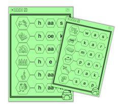 Taal - Klikklak - Kern 4 Thing 1, Spelling, Classroom, Letters, Education, School, Kids, Class Room, Children