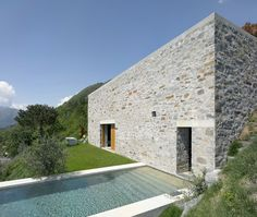 Beautiful stone house in Switzerland with lake views
