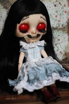 Close Your Eyes, Memento Mori, Blythe Dolls, Halloween Face Makeup, Cosplay, Trending Outfits, Unique Jewelry, Handmade Gifts, Vintage