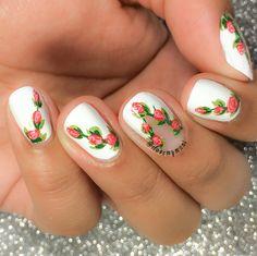 Nailpolis Museum of Nail Art   Roses nail art  by ilovemymaniofficial