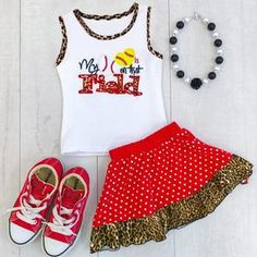 Baby/ Toddler Girl's Leopard Letter Print Tank and Polka Dots Skirt Latest Fashion For Women, Latest Fashion Trends, New Outfits, Kids Outfits, Designer Kids Clothes, Matching Family Outfits, New Year Gifts, Baby Outfits Newborn, Cute Baby Clothes