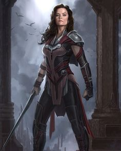 "Concept art of Lady Sif from Marvel's ""Thor: The Dark World"". Marvel Characters, Marvel Movies, Female Characters, Fantasy Characters, Fictional Characters, Marvel Art, Marvel Heroes, Marvel Concept Art, Thor Ragnarok Concept Art"