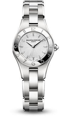 Baume & Mercier Linea  Quartz Women's Watch, Stainless Steel, Silver Dial