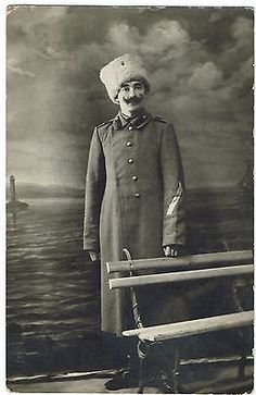 Tsarist Russia  old original photo of a Soldier 1917.