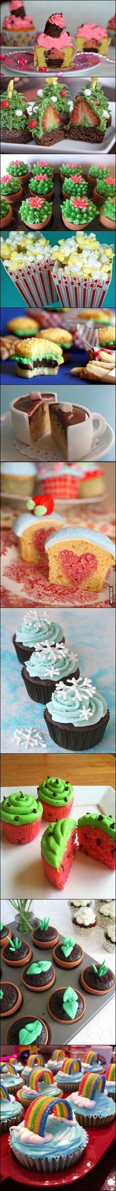 Brought to you by people with a lot of time on their hands: Creative Cupcake Decorating. #cupcakes