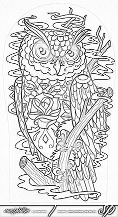 Advanced Owl Coloring Pages