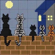 Thrilling Designing Your Own Cross Stitch Embroidery Patterns Ideas. Exhilarating Designing Your Own Cross Stitch Embroidery Patterns Ideas. Beaded Cross Stitch, Crochet Cross, Cross Stitch Charts, Cross Stitch Embroidery, Cross Stitch Patterns, Cross Stitch Pictures, Cross Stitch Animals, Tapestry Crochet, Cat Crafts